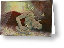 The Last Dream Before Dawn Greeting Card by Dorina  Costras
