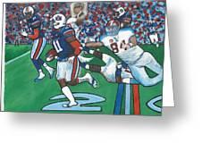 The Last Grasp Alabama Auburn Iron Bowl 2013 Add Nostalgia  Greeting Card by Ricardo Of Charleston
