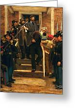 The Last Moments Of John Brown Greeting Card by Pg Reproductions