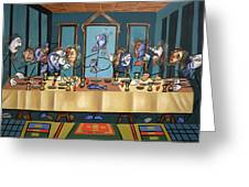 The Last Supper Greeting Card by Anthony Falbo