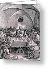 The Last Supper From The 'great Passion' Series Greeting Card by Albrecht Duerer