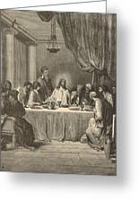 The Last Supper Greeting Card by Antique Engravings