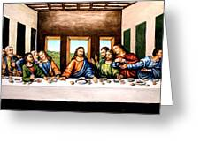The Last Supper Greeting Card by Todd Spaur