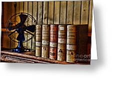 The Lawyers Desk Greeting Card by Paul Ward