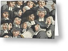 The Lecture, Illustration From Hogarth Greeting Card by William Hogarth