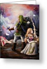 The Legend Of Zelda Greeting Card by Brynn Elizabeth Hughes