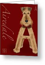 The Letter A Greeting Card by Valerie   Drake Lesiak