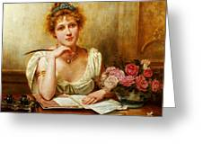 The Letter  Greeting Card by George Goodwin Kilburne