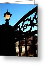 The Light And The Gate Greeting Card by Glenn McCarthy Art and Photography