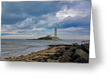 The Lighthouse Greeting Card by Trevor Kersley
