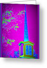 The Lights On Greeting Card by Bobbee Rickard