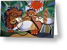 The Lion And The Lamb Greeting Card by Anthony Falbo