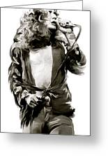 The Lion  Robert Plant Greeting Card by Iconic Images Art Gallery David Pucciarelli