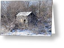 The Little Barn Greeting Card by Kristine Bogdanovich