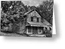 The Local Haunted House Greeting Card by Heather Applegate