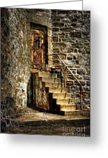 The Locked Door Greeting Card by Lois Bryan