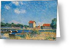 The Loing Canal At Saint-mammes Greeting Card by Alfred Sisley