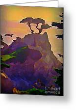 The Lone Cypress Greeting Card by John Malone