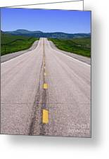 The Long Road Ahead Greeting Card by Olivier Le Queinec