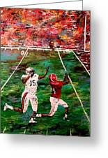 The Longest Yard - Alabama Vs Auburn Football Greeting Card by Mark Moore