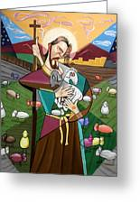 The Lord Is My Shepherd Greeting Card by Anthony Falbo