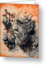 The Lost City - The Sentinel Greeting Card by Emerico Imre Toth