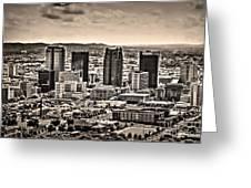 The Magic City Sepia Greeting Card by Ken Johnson