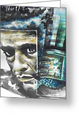 The Man In Black  Singer Johnny Cash Greeting Card by Chrisann Ellis