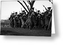 The March Begins Inauguration2013 Greeting Card by Benjamin Burgess