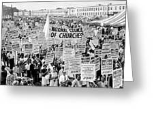The March For Civil Rights Greeting Card by Benjamin Yeager
