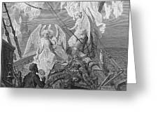 The mariner sees the band of angelic spirits Greeting Card by Gustave Dore