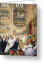 The Marriage At St Georges Chapel Greeting Card by English School