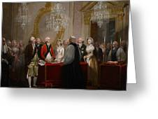 The Marriage of the Duke and Duchess of York Greeting Card by Henry Singleton
