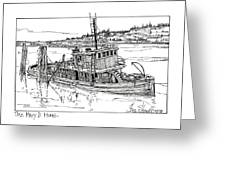 The Mary D. Hume Greeting Card by Ira Shander