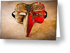 The Mask on the floor Greeting Card by Bob Orsillo