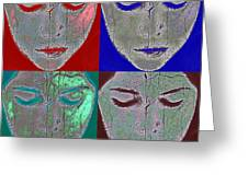the mask Greeting Card by Stylianos Kleanthous