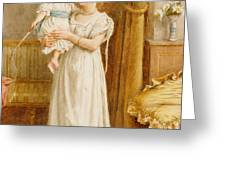 The Master of the House Greeting Card by George Goodwin Kilburne