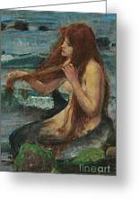 The Mermaid Greeting Card by John William Waterhouse