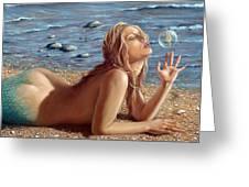 The Mermaids Friend Greeting Card by John Silver