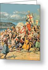 The Mighty King Of Chivalry Richard The Lionheart Greeting Card by Fortunino Matania