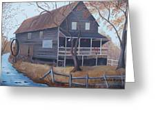 The Mill Greeting Card by Glenda Barrett