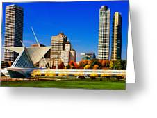 The Milwaukee Art Museum Greeting Card by Jack Zulli