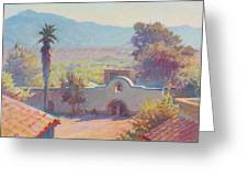 The Mission At Tubac Greeting Card by Ernest Principato
