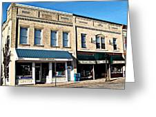 The Mitchell Buildings Greeting Card by MJ Olsen