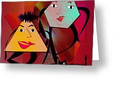 The Mob Greeting Card by Iris Gelbart