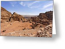 The Monastery Sculpted Out Of The Rock At Petra In Jordan Greeting Card by Robert Preston