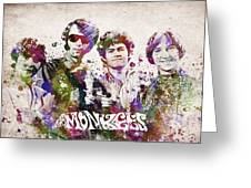 The Monkees Greeting Card by Aged Pixel
