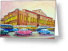 The Montreal Forum Greeting Card by CAROLE SPANDAU