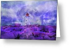 The Moon Knows Where to Rise Greeting Card by Betsy C  Knapp