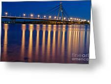 The Moskovskyi Bridge In Kiev Greeting Card by Igor Baranov